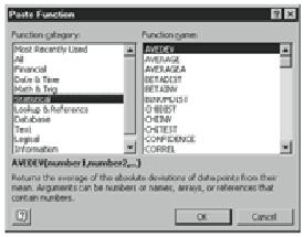 Las Fórmulas De Excel Para Estadística Fórmulas De Excel