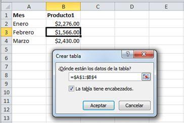 Cómo actualizar los datos de un gráfico de Excel2