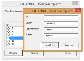 Cómo buscar y modificar datos en excel5
