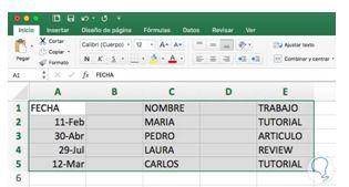 Cómo eliminar una columna en Excel2