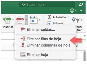 Cómo eliminar una columna en Excel6