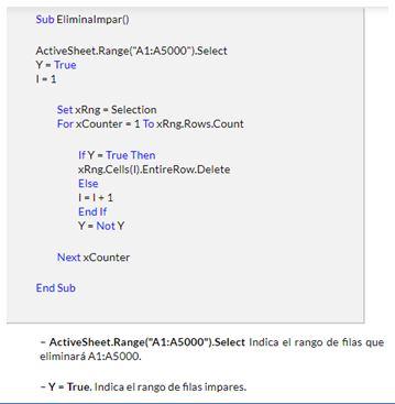 Cómo eliminar una fila en Excel8