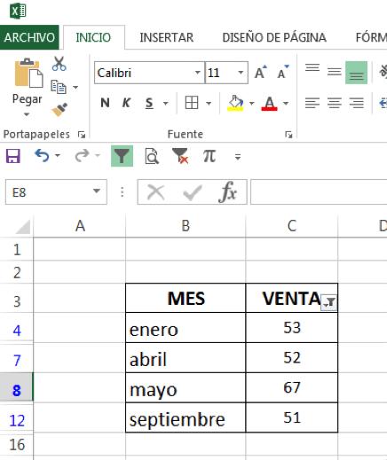 Como filtrar en Excel por números
