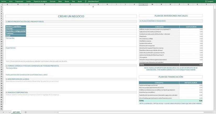 Estudio de viabilidad en Excel