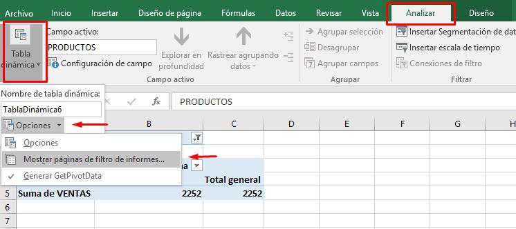 Cómo crear un informe en Excel