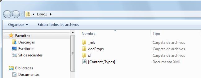 formatos de archivo de Excel