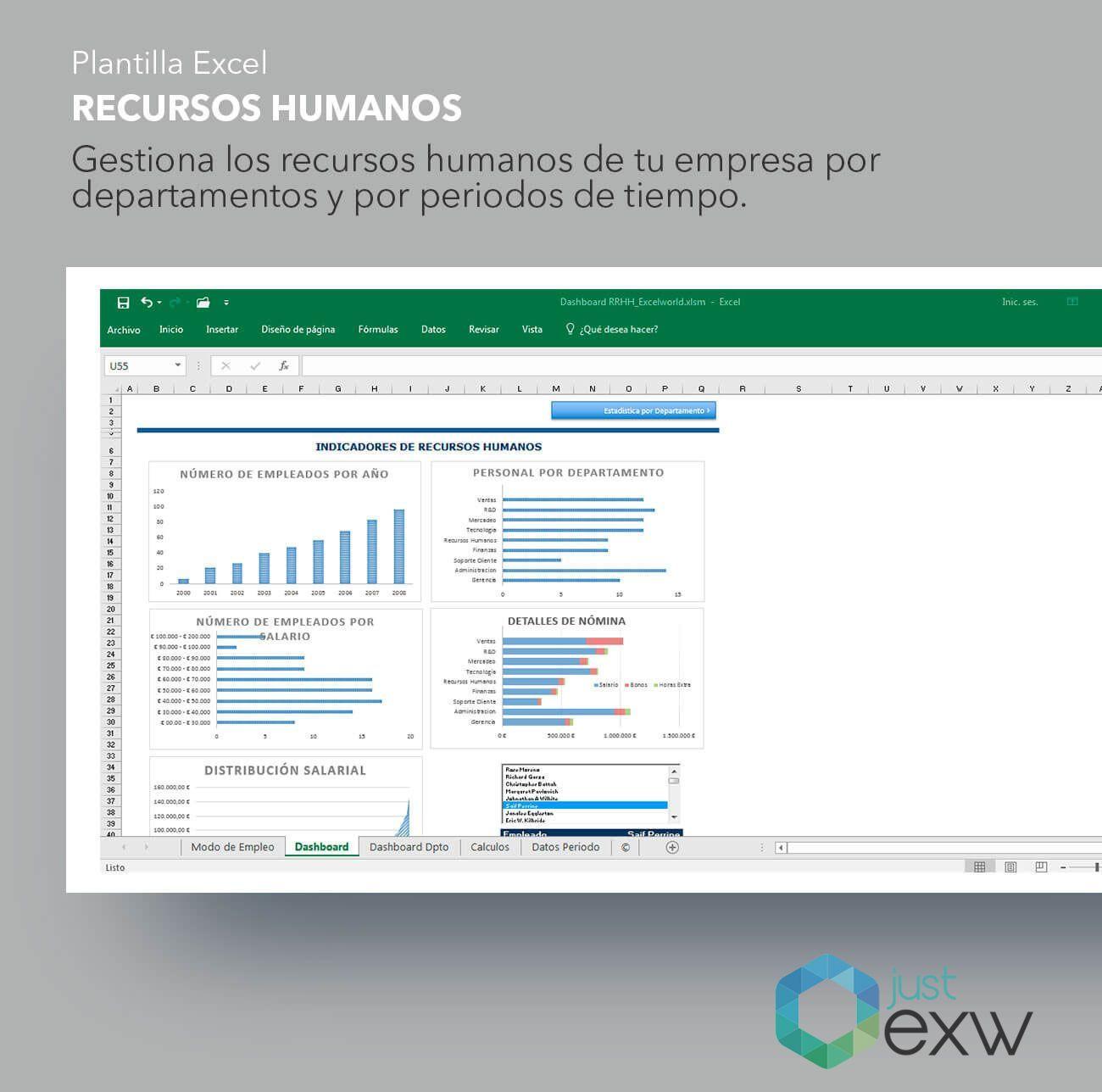 Plantilla Recursos Humanos en Excel