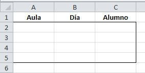 Introducir datos a partir de la lista que especifique 1