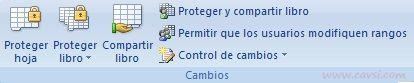 pestaña Revisar de la cinta de opciones en Excel