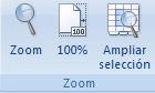 pestaña Vista de la cinta de opciones en Excel