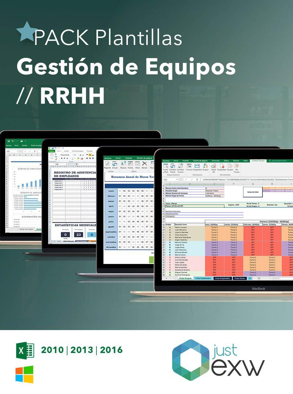 Pack Plantillas Gestión de Equipos | RRHH | Just EXW