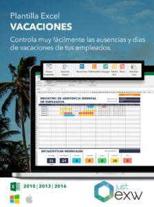 Excel para gestionar vacaciones