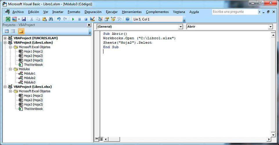 Abrir libro y hoja de Excel con Visual Basic