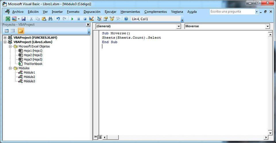 Activar primera hoja de Excel con Visual Basic