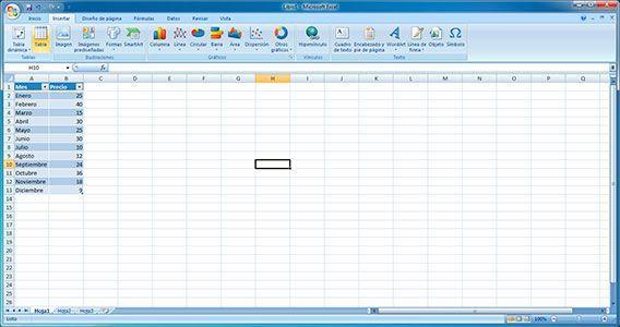 Actualizar gráfico Excel automáticamente
