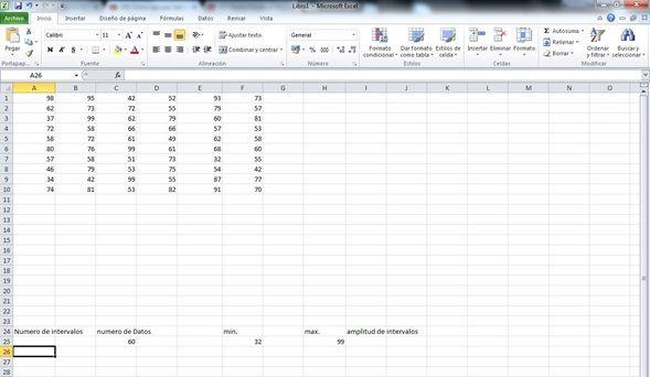 agrupar datos de Excel en intervalos 2