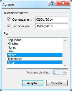Cómo agrupar fechas en tablas dinámicas en Excel