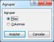 Cómo agrupar filas en Excel
