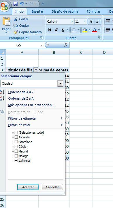 Cómo aplicar filtros en las tablas dinámicas de Excel