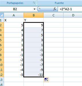 Arrastrar y soltar en Excel