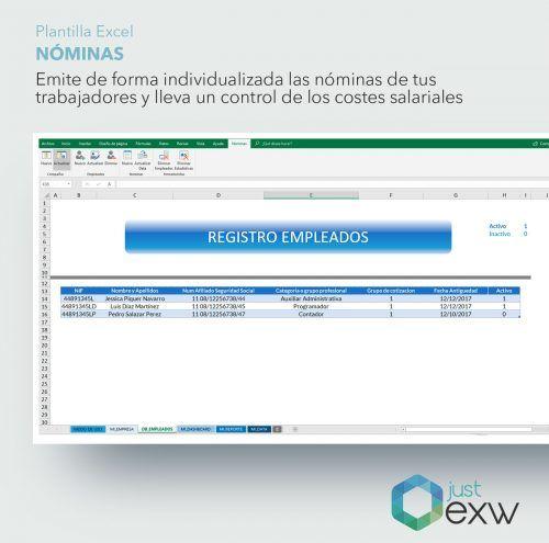 Plantilla Excel recibo de salarios