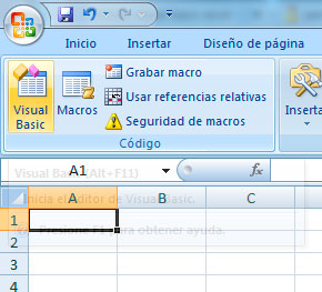 Editor de Visual Basic Excel