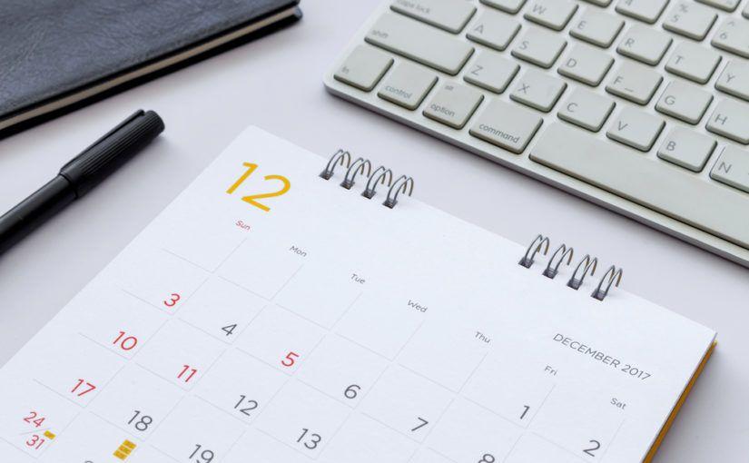 Calendario feriados 2019 en Excel