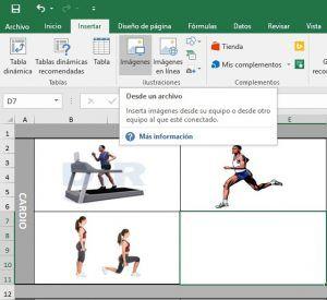 Añadir imágenes en Excel