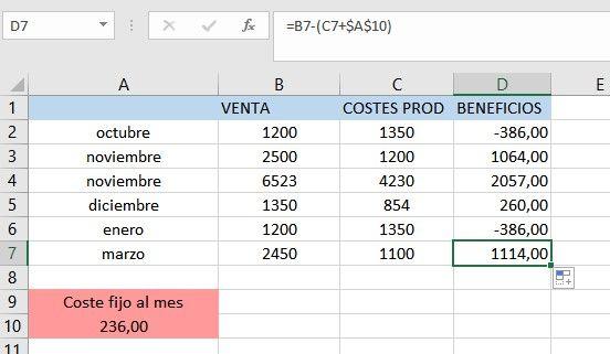 Qué es la referencia absoluta en Excel