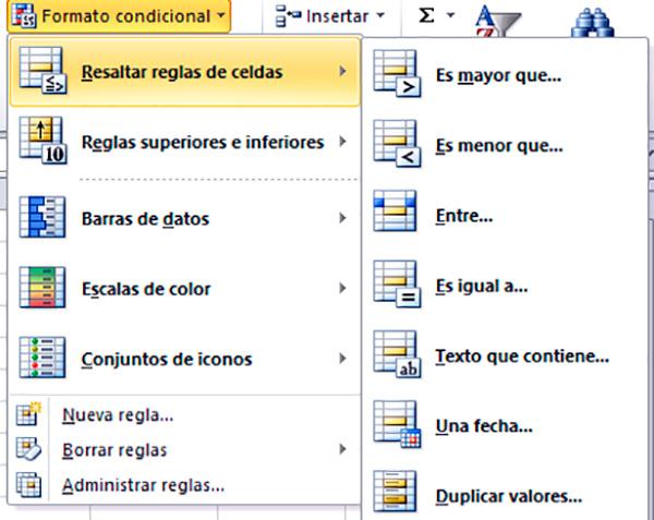 Pintar celdas de Excel según el criterio
