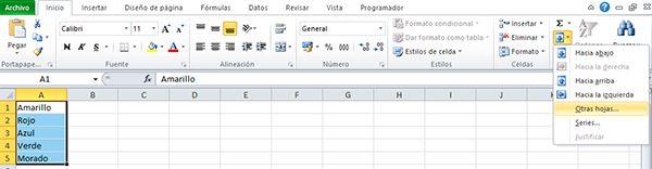 Copiar celdas de Excel