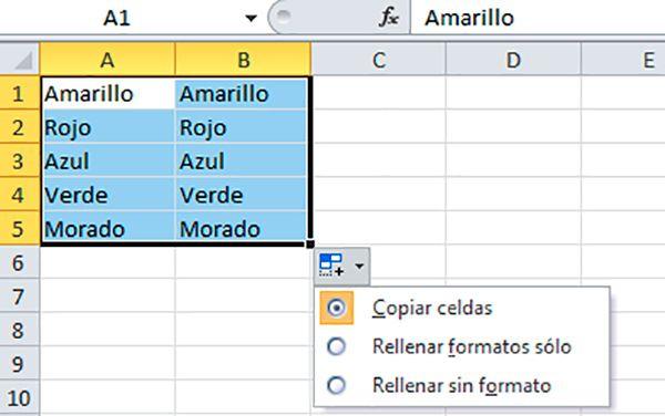 Formas de copiar celdas de Excel