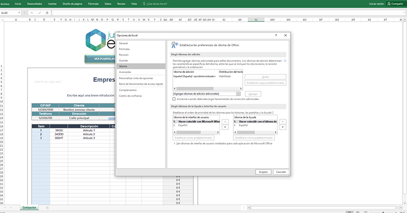Claves para poner otro idioma en Excel