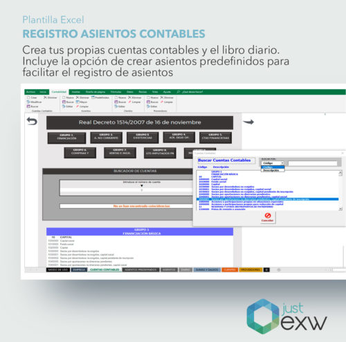 Contabilidad con plantillas de Excel