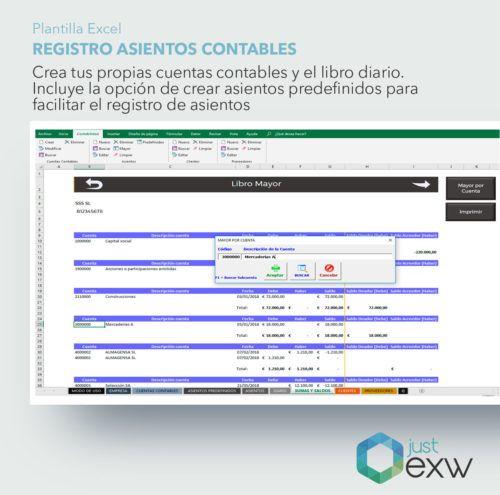 Plantilla de Excel de asientos contables