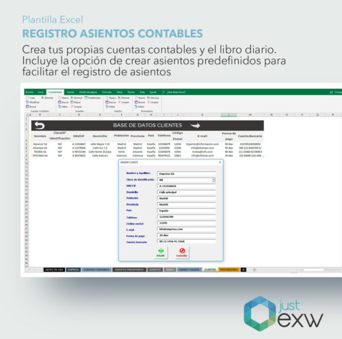 Anotar asientos contables en Excel