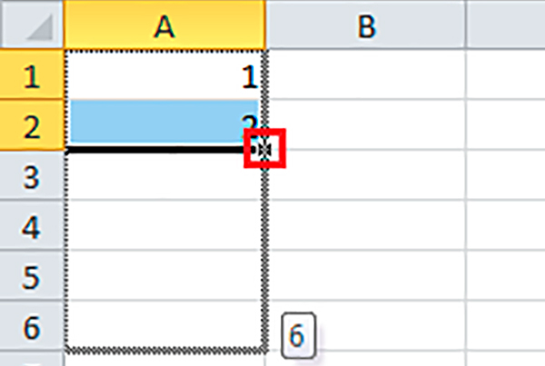 Controlador de relleno casillas Excel