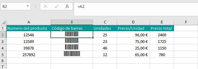 Trucos Para Añadir Códigos De Barras En Excel Código De Barras En Excel