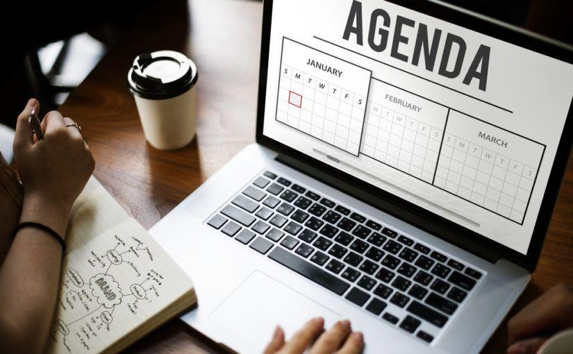 Agenda de trabajo con Excel
