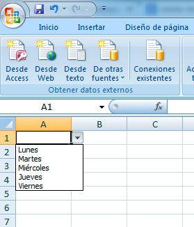 Cómo crear lista desplegable en Excel