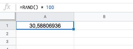 Números aleatorios con Función ALEATORIO en Excel