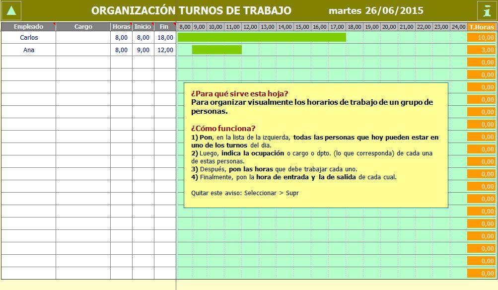 Cómo crear un horario de trabajo en Excel | Tutorial de Excel