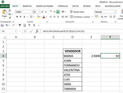 cruzar datos en Excel con la función BUSCARV