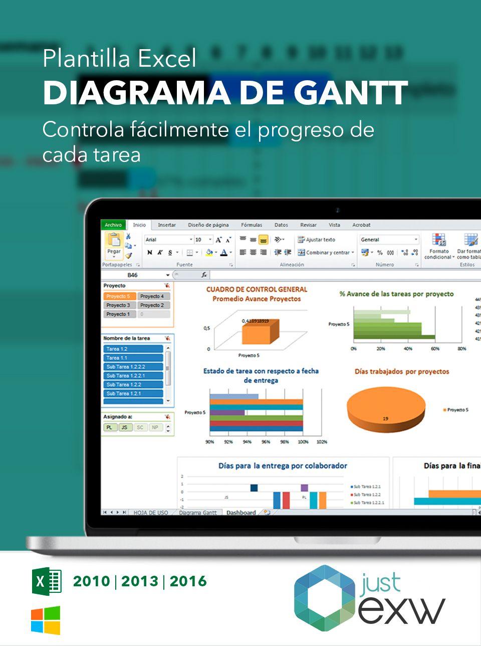 Cronograma de actividades en Excel | Diagrama de Gantt en Excel