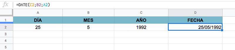 Cómo usar la Función FECHA en Excel