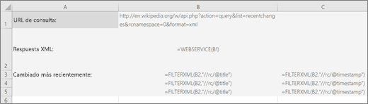 Sintaxis de la función XMLFILTRO en Excel