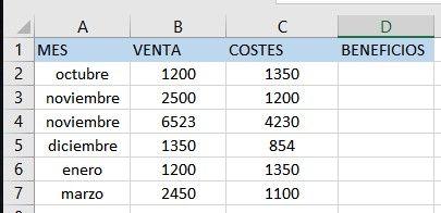 Ejercicios de Excel resuelto