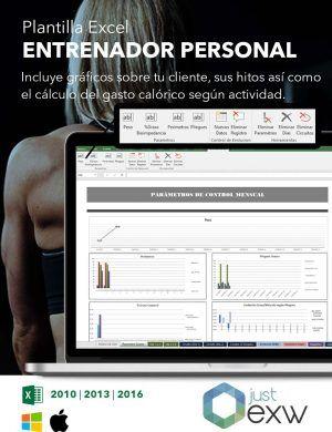 Plantilla excel entrenamiento personal para pc y mac
