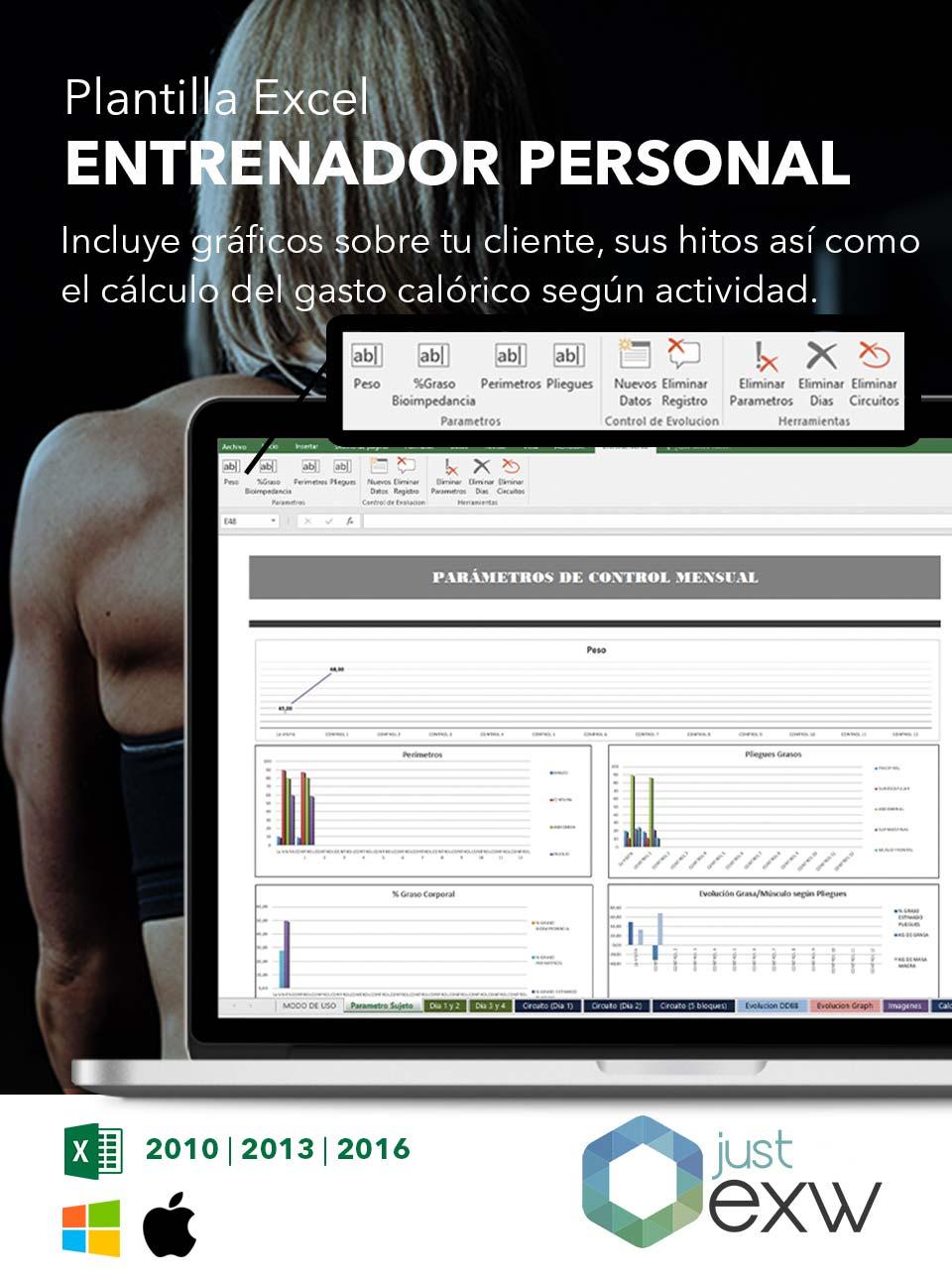 Plantilla de Entrenamiento deportivo en Excel | Plantilla para descargar