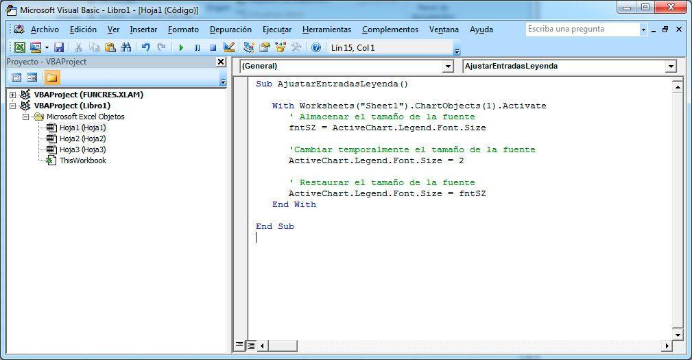 Errores que pueden aparecer en Visual Basic para Excel